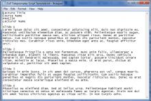 Screen grab of a sample teleprompter script